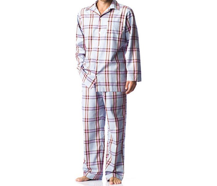 Check printed men's sleepwear in UK and Australia