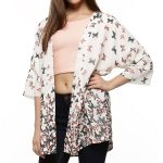 Chic Printed White Coat in UK and Australia