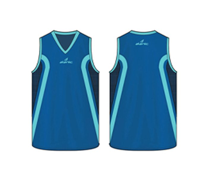 Cobalt blue Australian Football singlet in UK and Australia