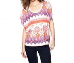 Color Burst Printed Relaxed Tee in UK and Australia