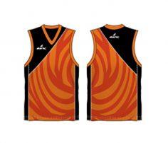 Cool orange and red Australian Football singlet in UK and Australia