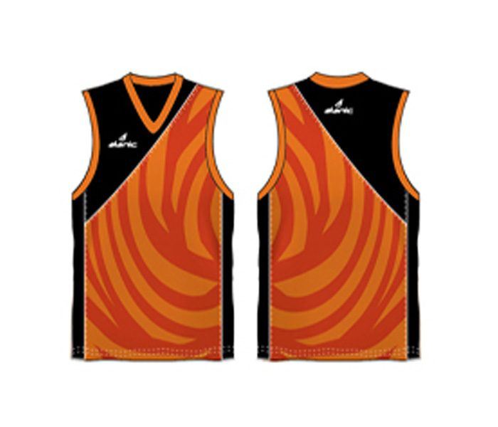 Cool orange and red Australian Football singlet in UK and Australia