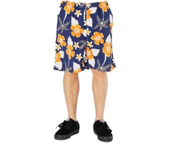 Cool Orange Flowery Beach Shorts in UK and Australia