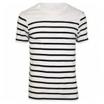 Cool white black stripe tee in UK and Australia