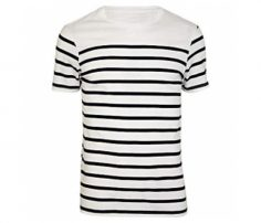 Cool white black stripe tee in UK and Australia