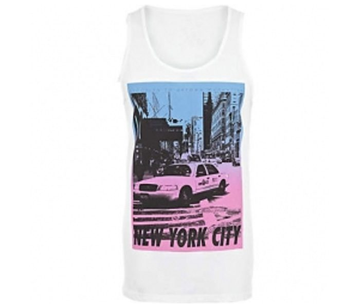 Cool White Graphic Print Tee in UK and Australia