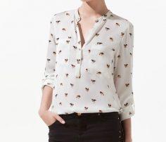 Cool White Printed Shirt UK and Australia