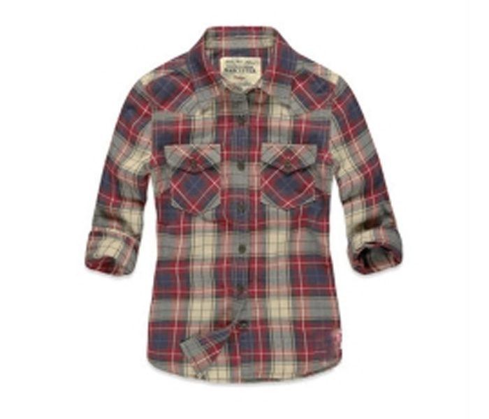Cream, Grey and Red Check Shirt in UK and Australia