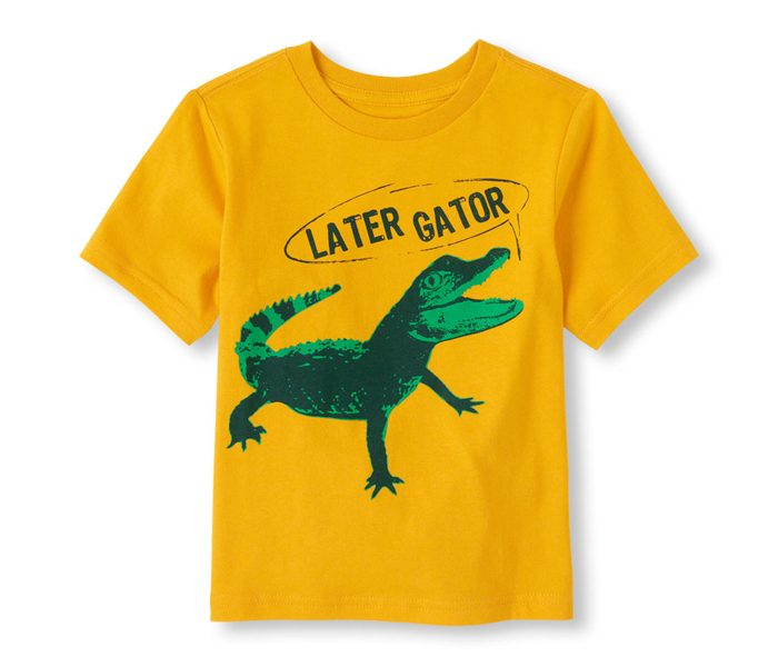 Cute Alligator Printed T Shirt in UK and Australia