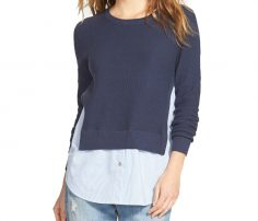 Dark Blue Short Sweater in UK and Australia