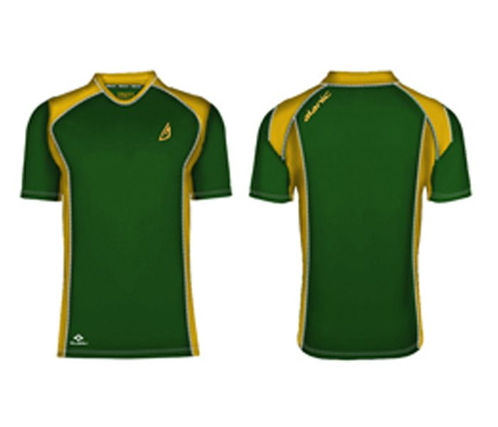 Dark Green and Yellow Tee in UK and Australia
