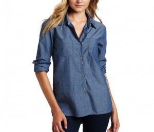 Denim Blue Relaxed Shirt in UK and Australia