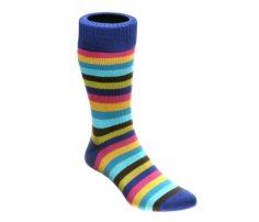Designer striped multi-colour socks in UK and Australia
