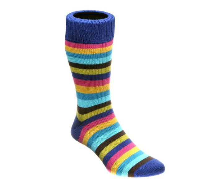 Designer striped multi-colour socks in UK and Australia