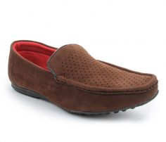 Dotted Brown Suede Loafers in UK and Australia