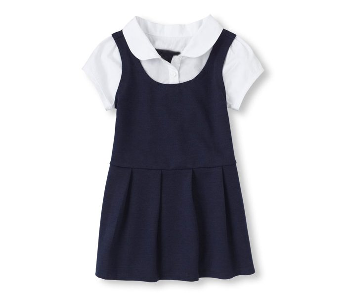 Faux Layered Uniform Dress in UK and Australia
