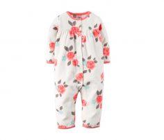 Floral Appliquéd Fleece Jumpsuit in UK and Australia
