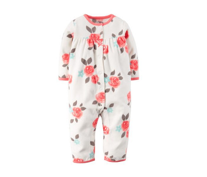 Floral Appliquéd Fleece Jumpsuit in UK and Australia