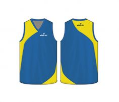 Funky yellow and blue Australian Football singlet in UK and Australia