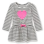 Glitter Heart Striped Dress in UK and Australia