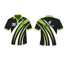 Green and Black Cricket Tee in UK and Australia