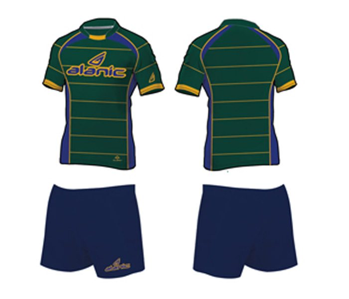Green and Blue Rugby Set in UK and Australia