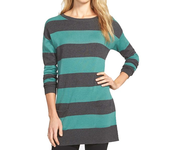 Green & Black Long Sweater in UK and Australia