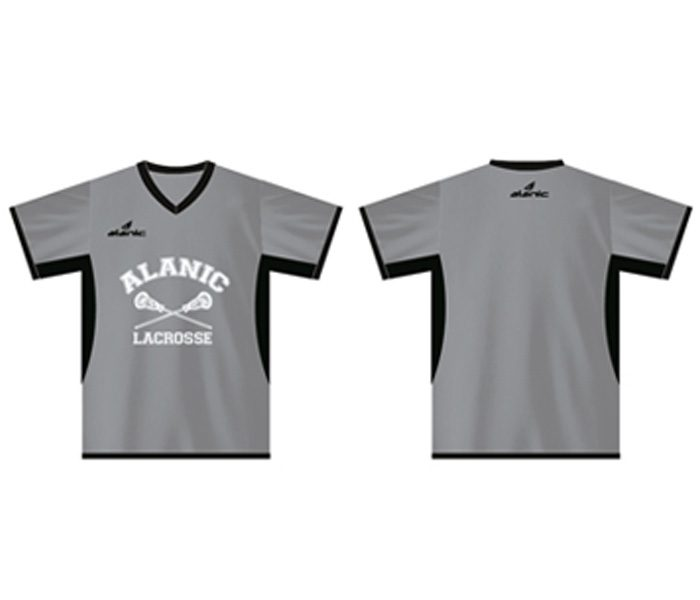 Grey and Black Lacrosse Tee in UK and Australia