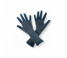 Grey and Blue Striped Ladies Gloves in UK and Australia