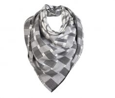 Grey and White Check Print Scarf in UK and Australia