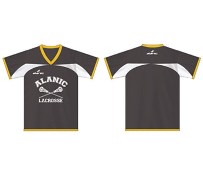 Grey and Yellow Lacrosse Tee in UK and Australia