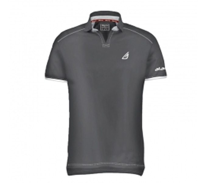 Wholesale Grey Running Polo Tee in USA