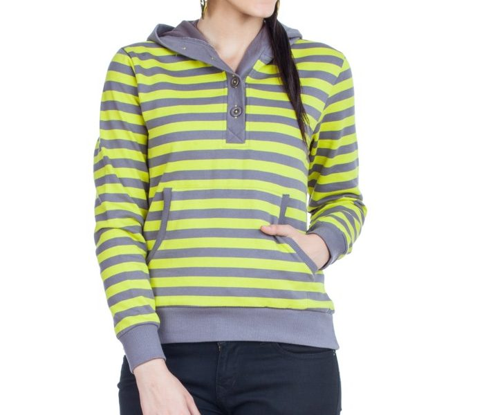 Grey & Yellow Striped Sweater in UK and Australia