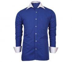 Indigo Blue white Collar Shirt in UK and Australia