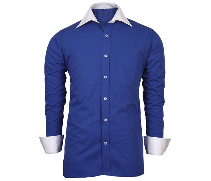 Indigo Blue white Collar Shirt in UK and Australia