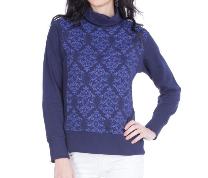 Indigo Printed Turtleneck Sweater in UK and Australia