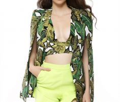 Leafy Green Couture Coat in UK and Australia