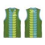 Lemon green printed Australian Football singlet in UK and Australia
