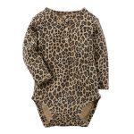 Leopard Print Infant Bodysuits in UK and Australia