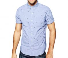 Light Blue Chopper Print Shirt in UK and Australia