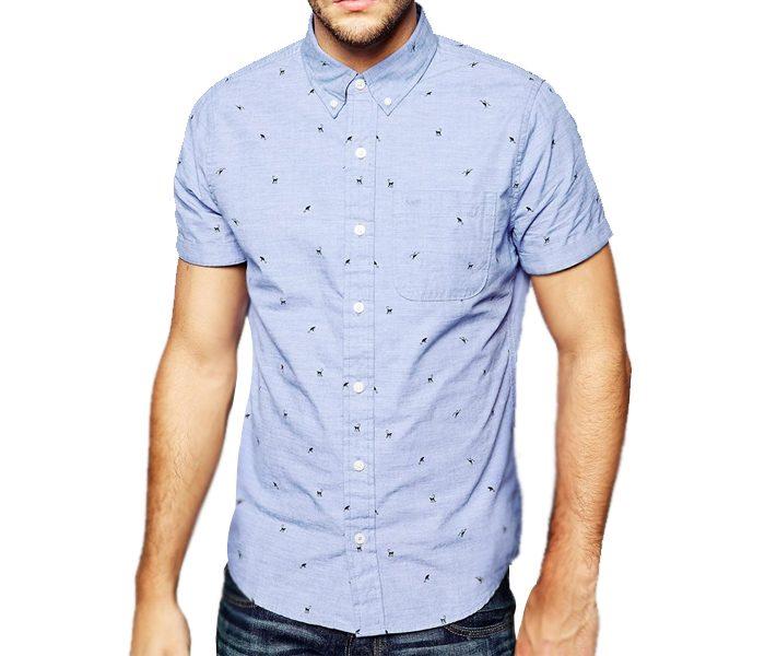 Light Blue Chopper Print Shirt in UK and Australia