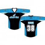 Light Blue And Black Ice Hockey T Shirt in UK and Australia