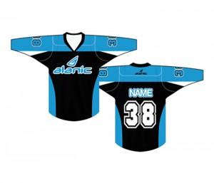 Light Blue And Black Ice Hockey T Shirt in UK and Australia