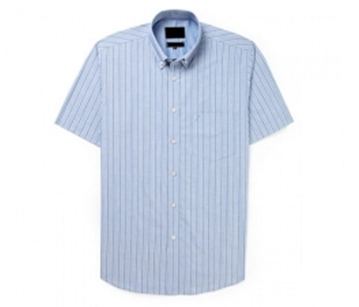 Light Blue Stripe Half Sleeve Shirt in UK and Australia