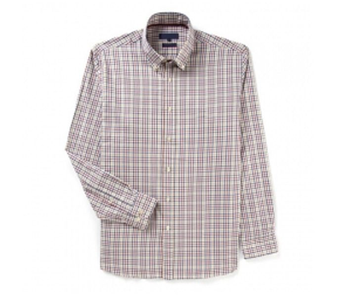 Light Brown and White Check Full Sleeve Shirt in UK and Australia