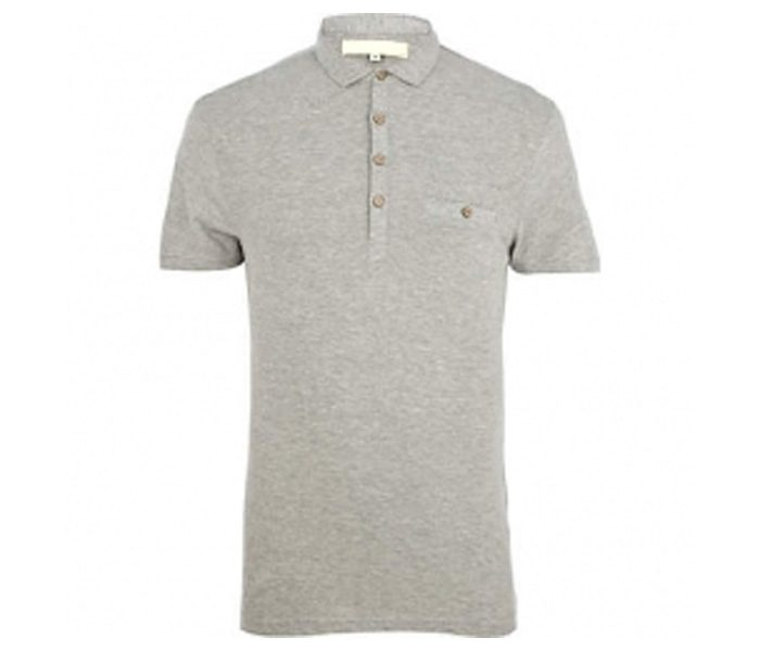 Light Grey Polo T Shirt in UK and Australia