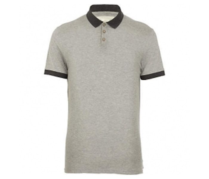 Light Grey with Black Collar Polo T Shirt in UK and Australia