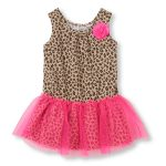 Lovely Leopard Print Mesh Dress in UK and Australia