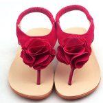 Maroon Floral Flip Flop