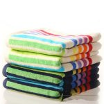 Multi-Colour Striped Set of Towel in UK and Australia